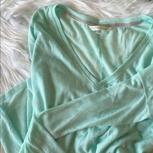 Victoria's Secret V neck long sleeve Tee
